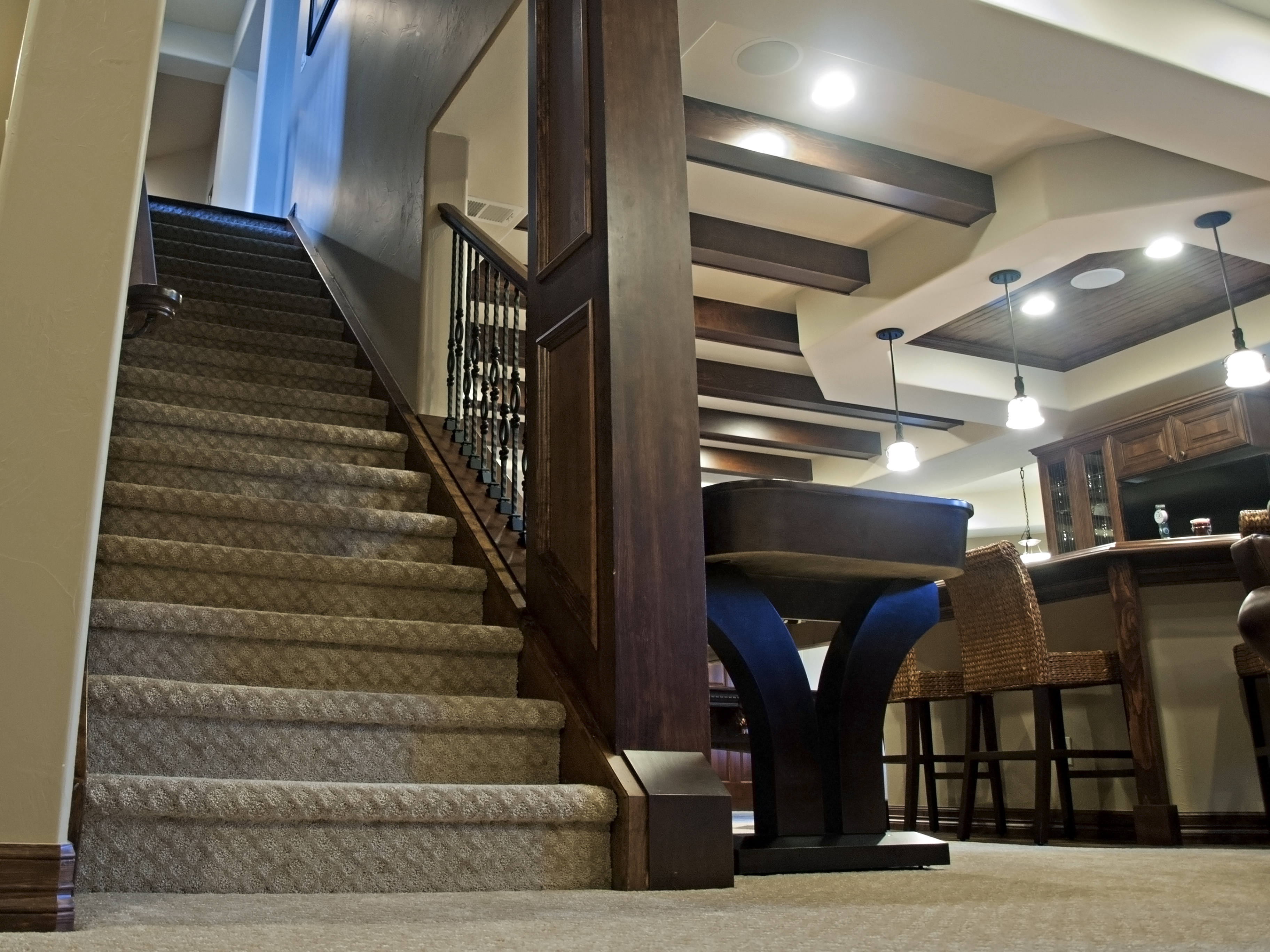 stairs bic construction inc. Black Bedroom Furniture Sets. Home Design Ideas