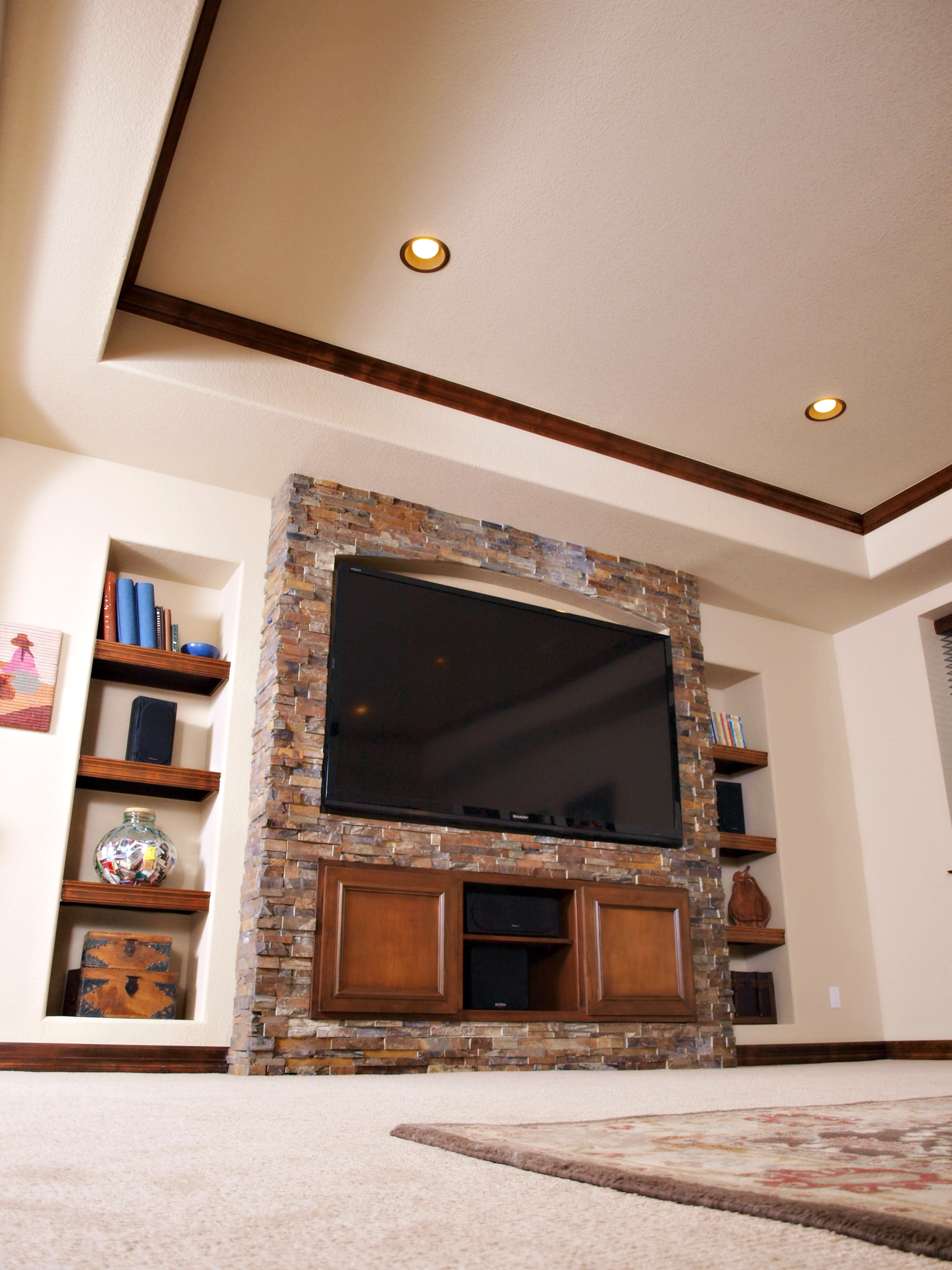 built in entertainment center bic construction inc. Black Bedroom Furniture Sets. Home Design Ideas